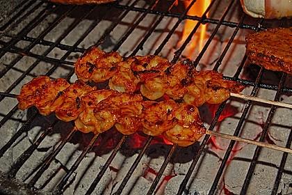 BBQ Garnelen in Honig - Senf - Sauce 2