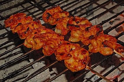 BBQ Garnelen in Honig - Senf - Sauce 1