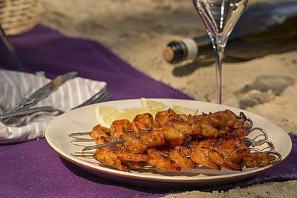 BBQ Garnelen in Honig - Senf - Sauce 8