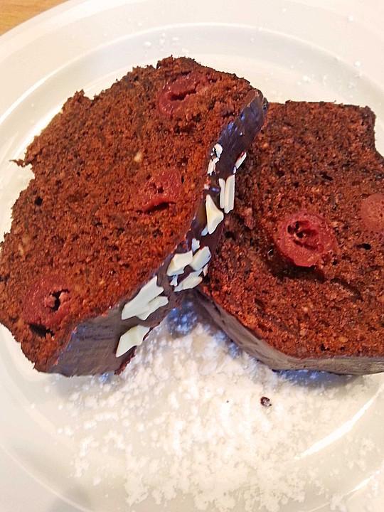 Schneller Schokoladenkuchen Mit Kirschen Von Dober Chefkoch De