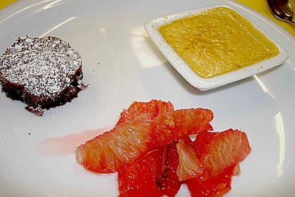 Tonkabohnen - Crème brûlée mit Zitrusragout