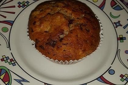 Schnelle Schoko - Bananen - Muffins 87
