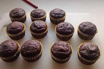 Schnelle Schoko - Bananen - Muffins 79