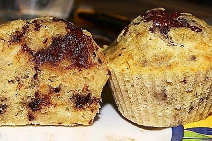 Schnelle Schoko - Bananen - Muffins 84