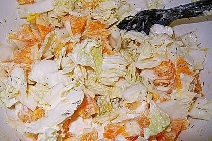 Chinakohl mit Orangenwürfeln 23