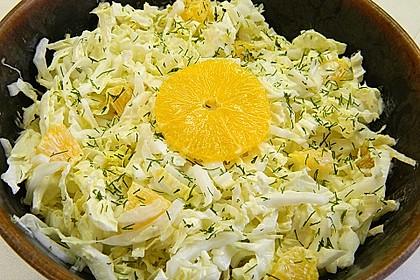 Chinakohl mit Orangenwürfeln 2