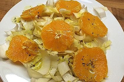 Chinakohl mit Orangenwürfeln 8
