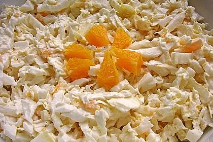 Chinakohl mit Orangenwürfeln 25