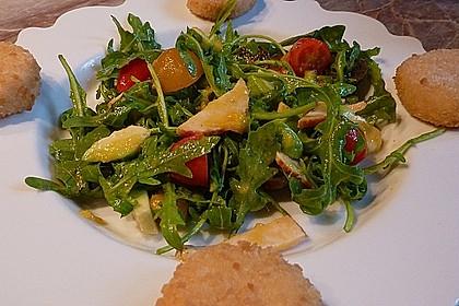 Mango-Avocado-Salat mit Hühnerstreifen, Rucola und Tomaten 32