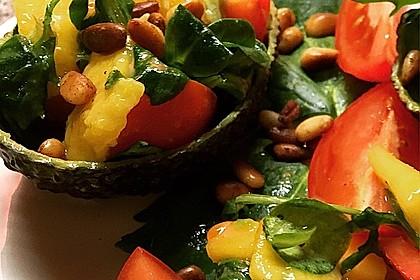 Mango-Avocado-Salat mit Hühnerstreifen, Rucola und Tomaten 21