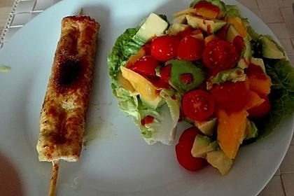 Mango-Avocado-Salat mit Hühnerstreifen, Rucola und Tomaten 51