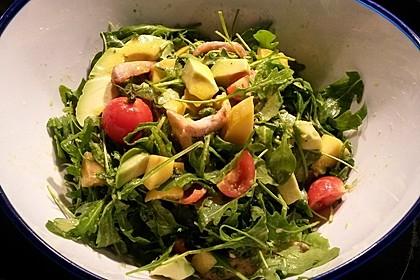 Mango-Avocado-Salat mit Hühnerstreifen, Rucola und Tomaten 28