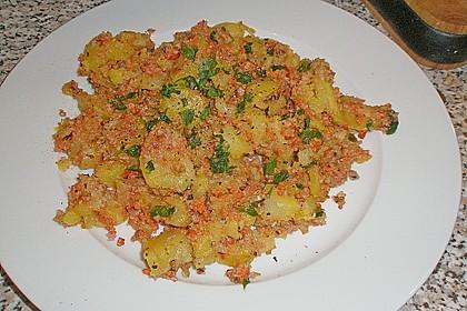 'Kartoffelspeis' (Wurstkartoffeln)