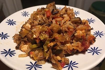 Mediterraner Auflauf mit Hackfleisch, Reis und Schafskäse 1