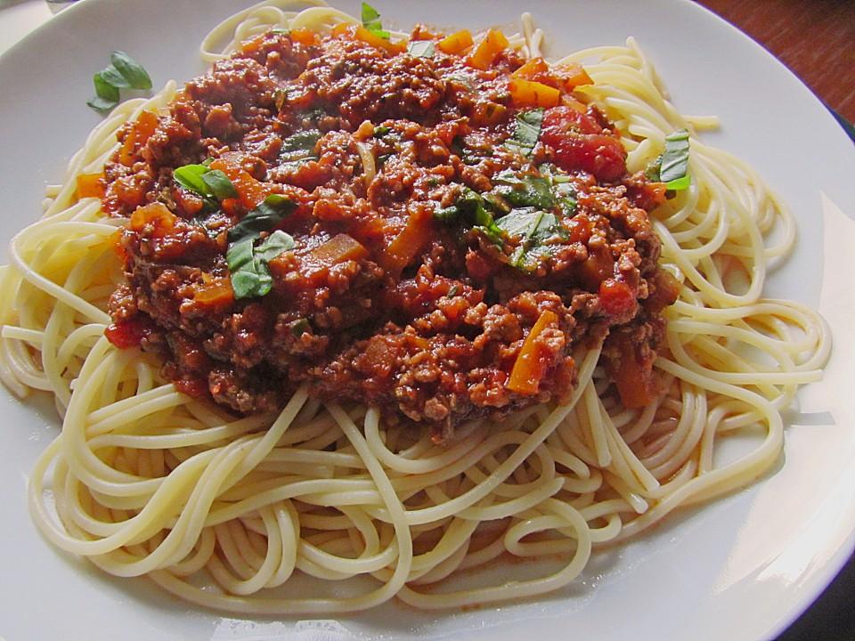 spaghetti bolognese von jessy70 chefkoch de