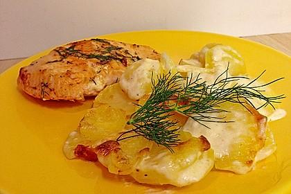 Würzlachs mit Meerrettich-Kartoffelgratin 7