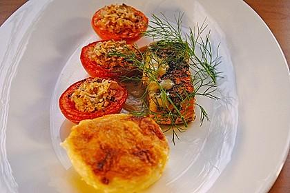 Würzlachs mit Meerrettich-Kartoffelgratin 4