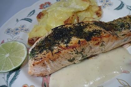 Würzlachs mit Meerrettich-Kartoffelgratin 5