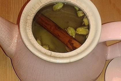 Ingwer - Zimt - Kardamom - Tee mit Milch und Honig 11