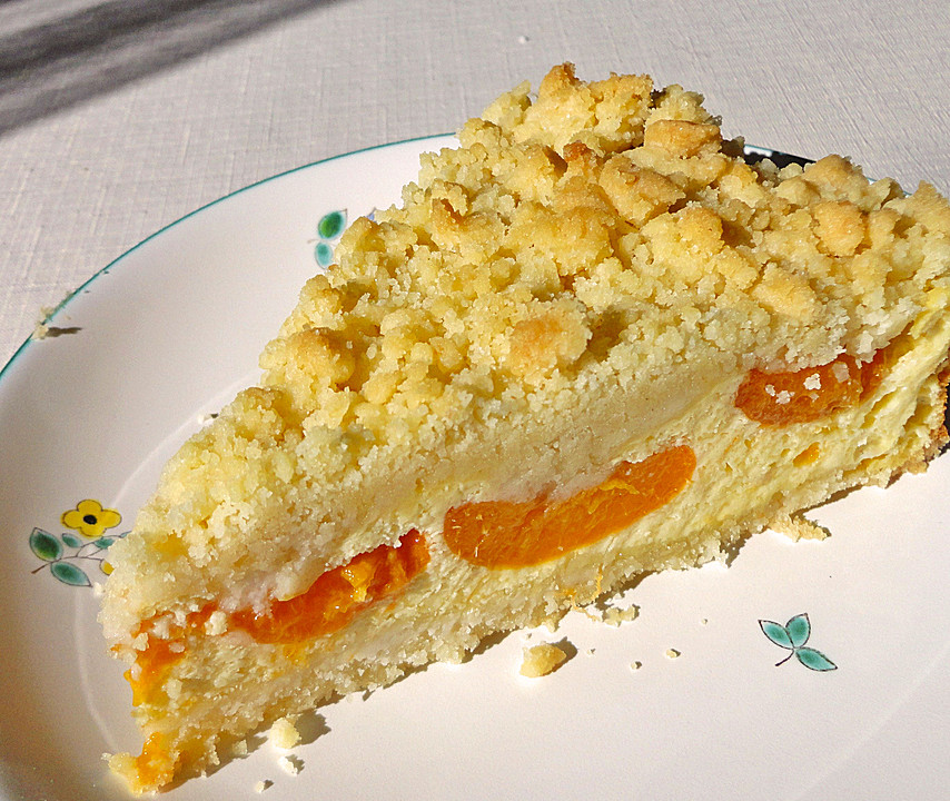 Saftiger Kasekuchen Mit Aprikosen Und Streuseln Von Alcar75