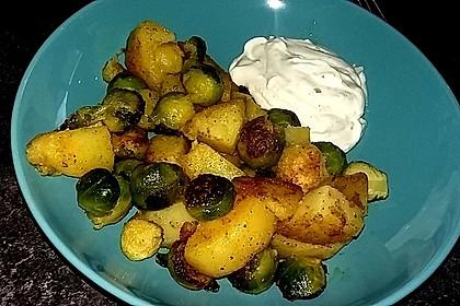 Kartoffel-Rosenkohl-Pfanne 10