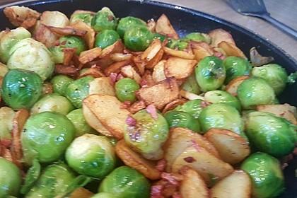 Kartoffel-Rosenkohl-Pfanne 17