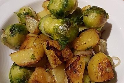 Kartoffel-Rosenkohl-Pfanne 3