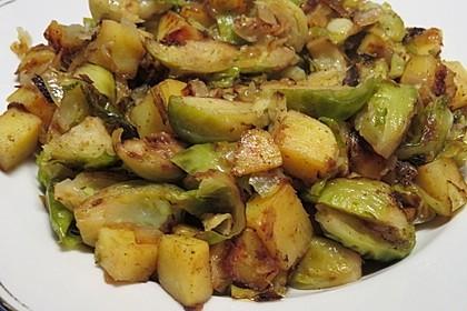 Kartoffel-Rosenkohl-Pfanne 12