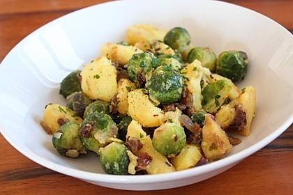 Kartoffel-Rosenkohl-Pfanne 1