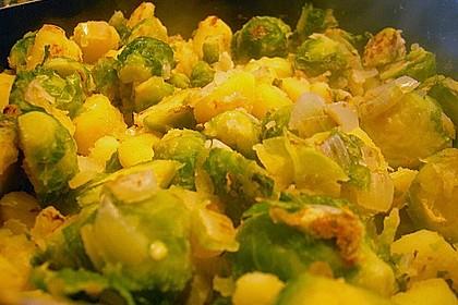 Kartoffel-Rosenkohl-Pfanne 9