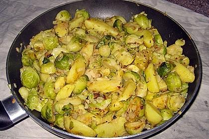 Kartoffel-Rosenkohl-Pfanne 14
