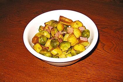 Kartoffel-Rosenkohl-Pfanne 8