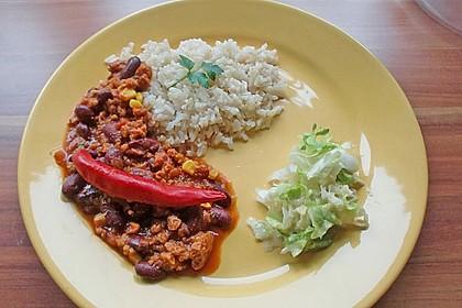 Chili mit Sojageschnetzeltem