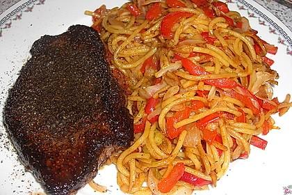 Spaghettini mit gebratenem Gemüse