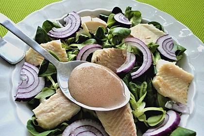 Feldsalat mit Räucherforelle oder anderem Räucherfisch 3