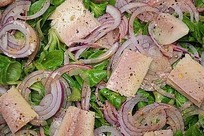 Feldsalat mit Räucherforelle oder anderem Räucherfisch 2