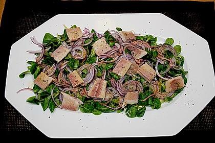 Feldsalat mit Räucherforelle oder anderem Räucherfisch 1