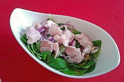 Feldsalat mit Räucherforelle oder anderem Räucherfisch 8