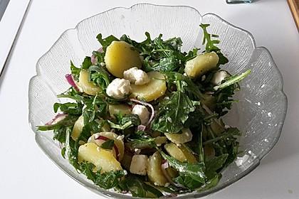 Kartoffelsalat mit Rucola und Schafskäse 9