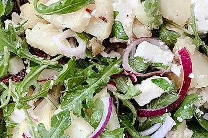 Kartoffelsalat mit Rucola und Schafskäse 13