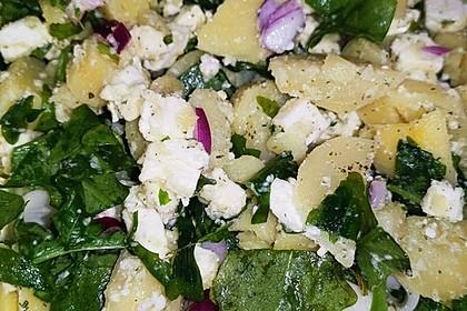 Kartoffelsalat mit Rucola und Schafskäse 21