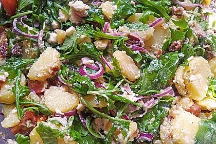 Kartoffelsalat mit Rucola und Schafskäse 15