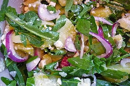 Kartoffelsalat mit Rucola und Schafskäse 11