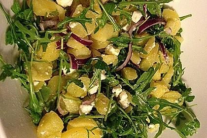 Kartoffelsalat mit Rucola und Schafskäse 14