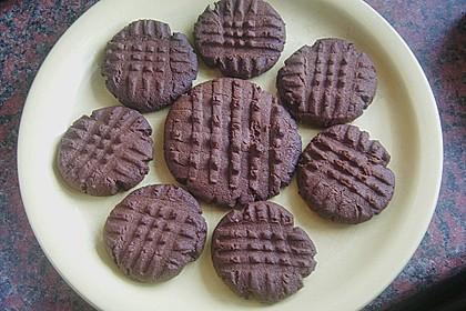 Erdnussbutter - Schokoladenkekse 11