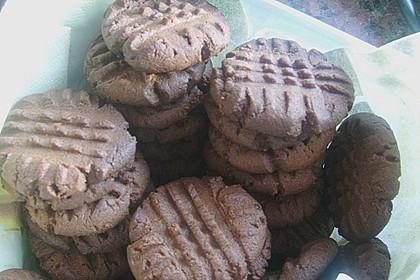 Erdnussbutter - Schokoladenkekse 15