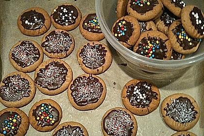 Erdnussbutter - Schokoladenkekse 8
