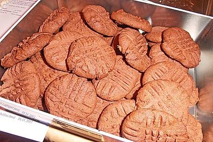Erdnussbutter - Schokoladenkekse 10