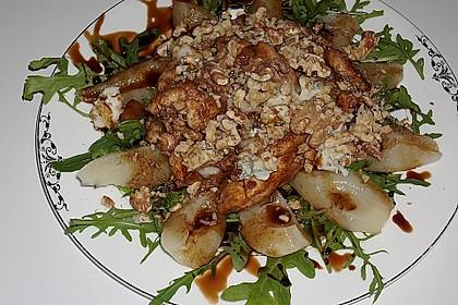 Hähnchenbrust mit Birne, Gorgonzola und Balsamico - Karamell - Reduktion