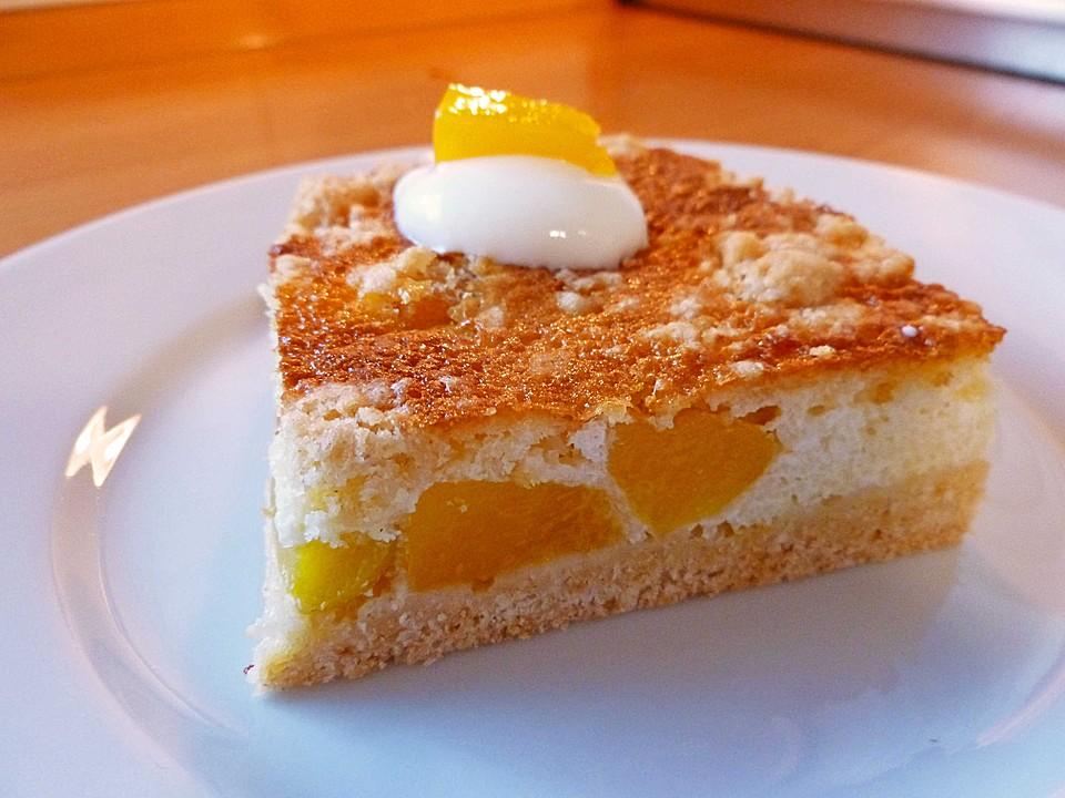 Pfirsich Mascarpone Kuchen Mit Streuseln Von P1963 Chefkoch De